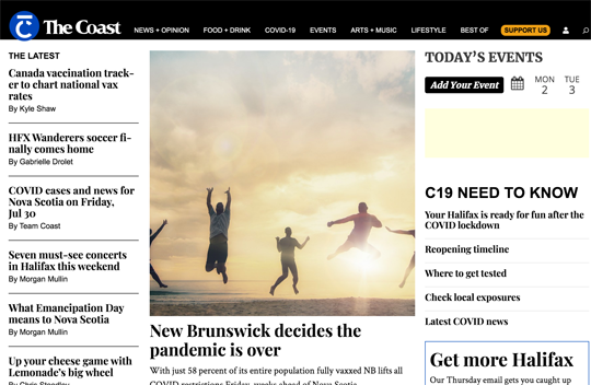 Halifax's Website The Coast